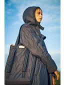 Dark blue cloak coat. Темно-синиее плащ-пальто