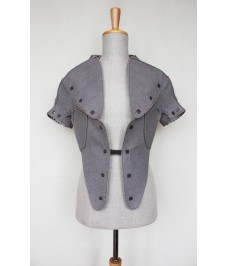 Look 2. Grey wool jacket. Серый шерстяной жакет