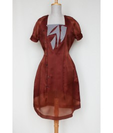 Look 2. Silk dress. Шелковое платье