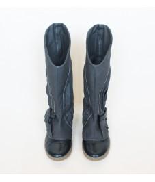 Grass shoes_4. Dark grey. Обувь-трава, темно-серые, с косой