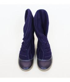 Grass shoes_5. Dark violet. Обувь-трава, темно-фиолетовые