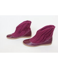 Grass shoes_6. Crimson. Обувь-трава, малиновая
