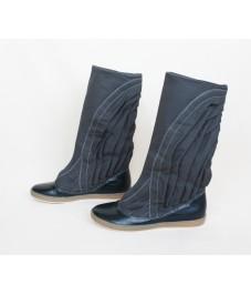 Grass shoes_1. Dark grey. Обувь- трава, темно-серая