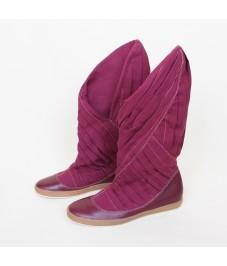 Grass shoes_2. Crimson. Обувь-трава, малиновая